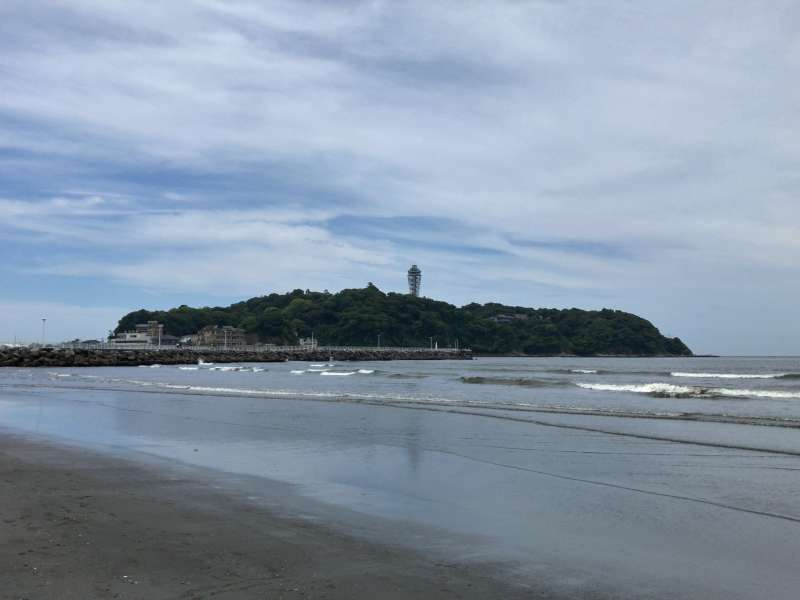 Enoshima Island, a scenic spot having a long history as a sacred island, in Enoshima Area