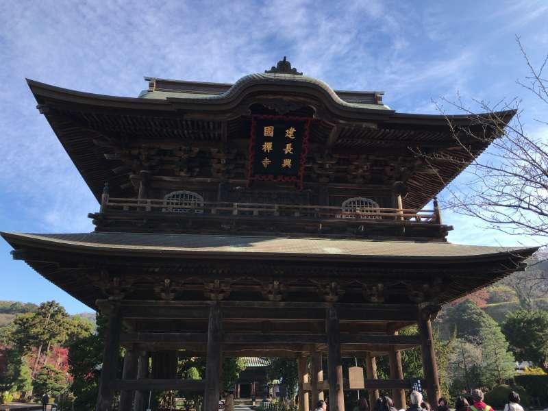 Sanmon, the main gate of Kenchoji Temple in Kita-Kamakura, Northern Kamakura Area