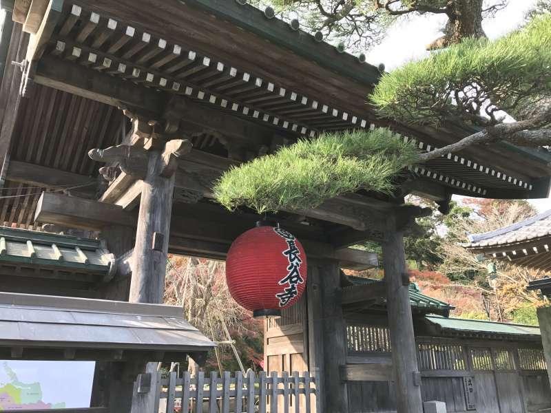 Hasedera Temple, featuring the huge statue of Kannon Bodhisattva, in Southwestern Kamakura Area