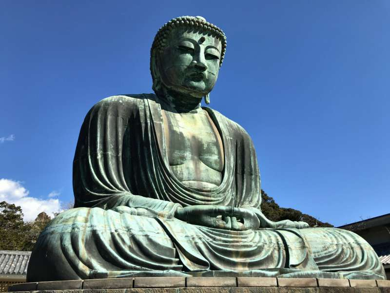 Daibutsu, a great statue of Buddha in Southwestern Kamakura Area