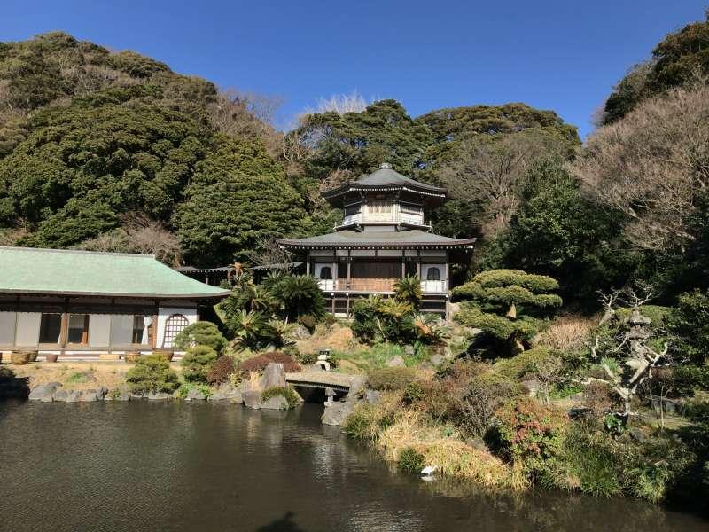 A pure land style garden at Komyoji temple in Southeastern Kamakura Area