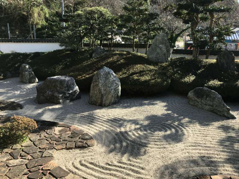 A dry style garden at Komyoji temple in Southeastern Kamakura Area