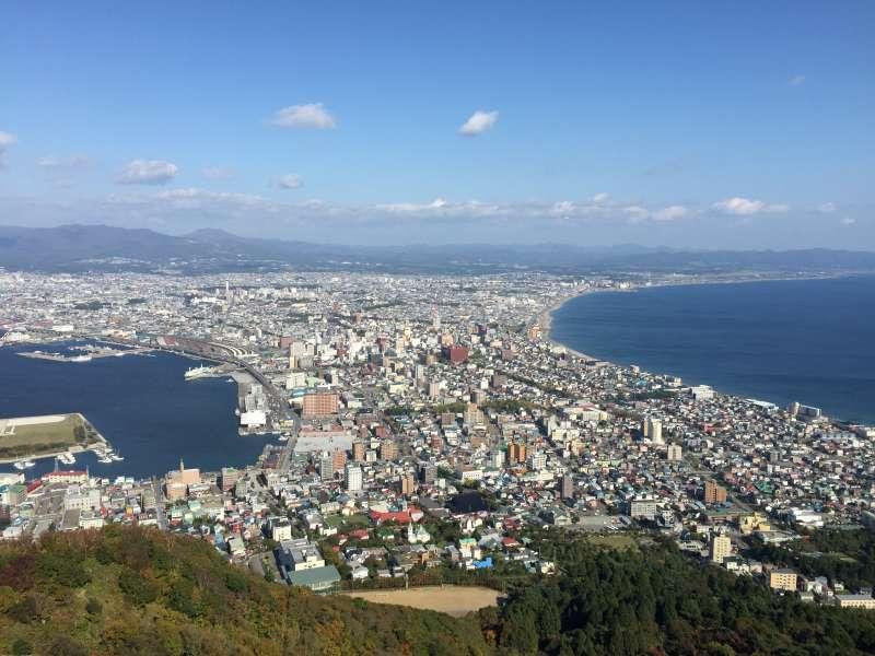 Panoramic view of Hakodate from Mt. Hakodate