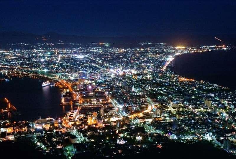 Night view of Hakodate from Mt. Hakodate