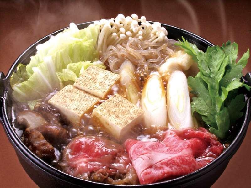 Sukiyaki, typical Japanese cuisine