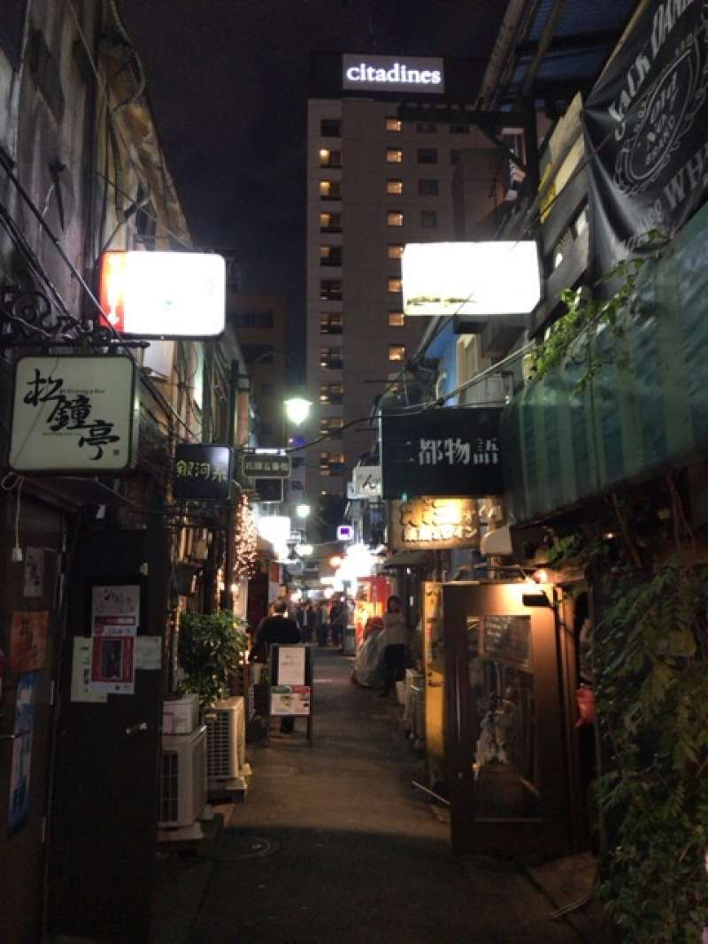 Golden Gai, a quarter where small pubs and bars line the narrow alleys, in Shinjuku area
