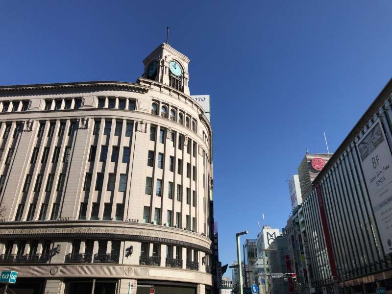 Ginza, a high-end shopping district in Marunouchi area