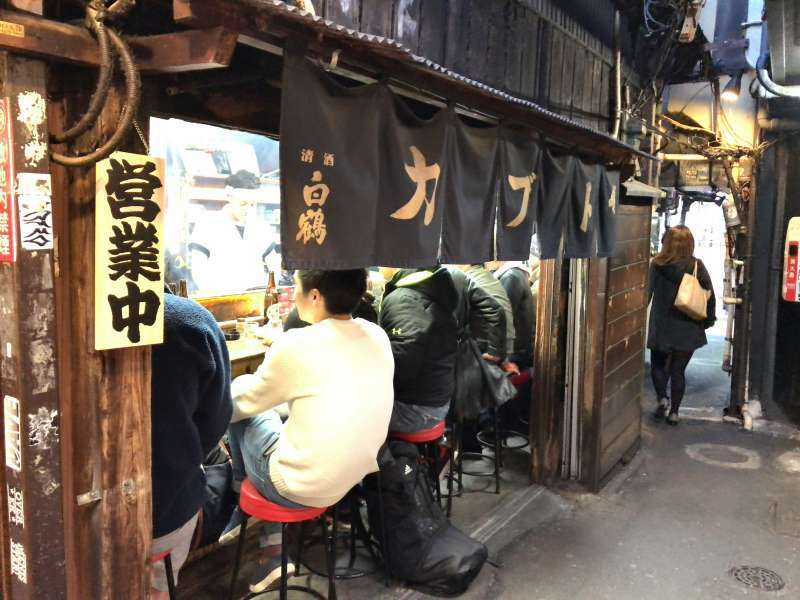 A food stand at Omoide Yokocho Street in Shinjuku area