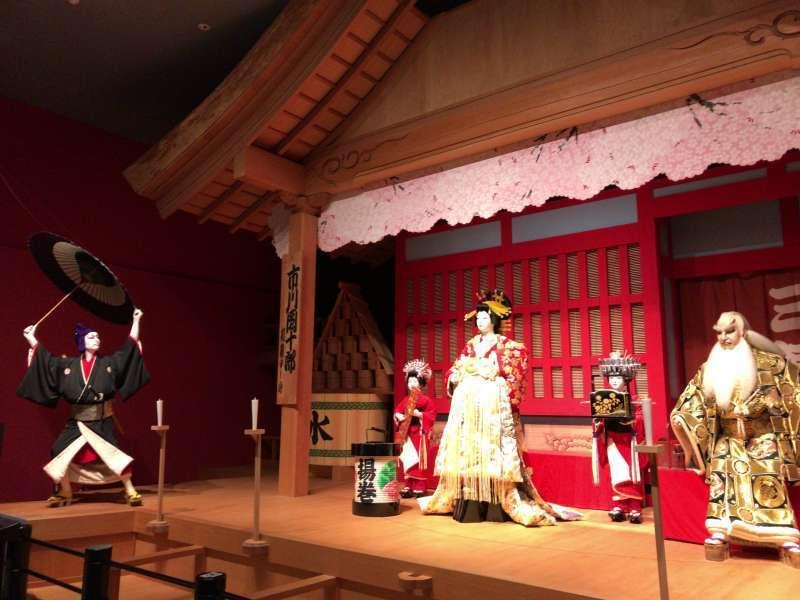 A display reproducing Kabuki, a traditional dramatic art, at Edo-Tokyo Museum in Ryogoku area
