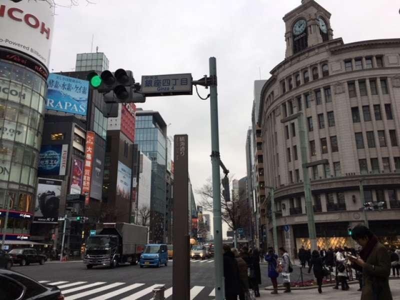 Ginza 4-chome Top-Notch shopping area