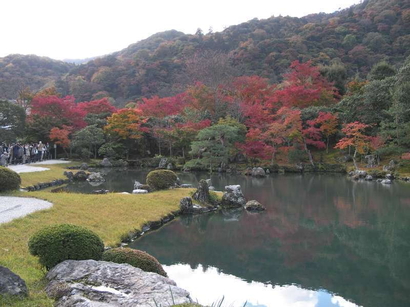 2.Golden: Japanese garden in Tenryu-Ji Temple