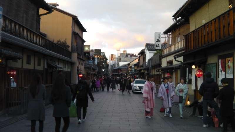 1.Miyabi & 3. History: Traditional Kyoto houses in Hanakoji street in Gion area