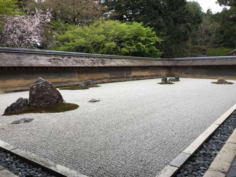 2.Golden: Dry landscape garden in Ryoan-Ji Temple (The World Heritage)
