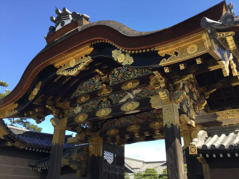 3. History: Gate of Nijo Castle (The World Heritage)