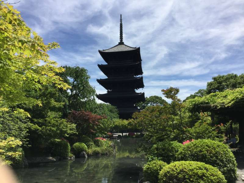 3.History: Japanese Garden and the five story Pagoda in To-Ji Temple