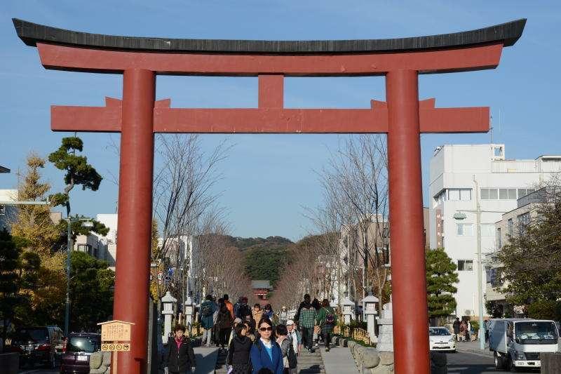 Option free of charge : Tsurugaoka Hachiman-gu Shrine Tori Gate