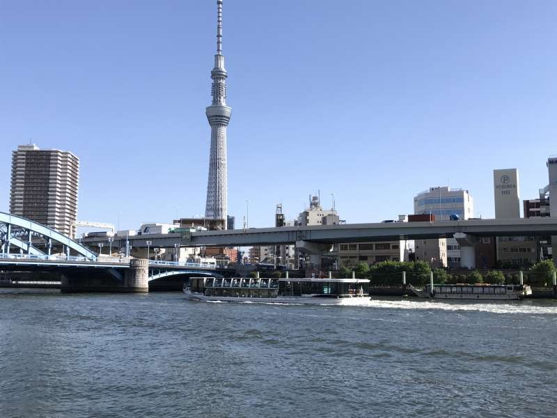 Tokyo Sky Tree and the Sumida River in Asakusa area