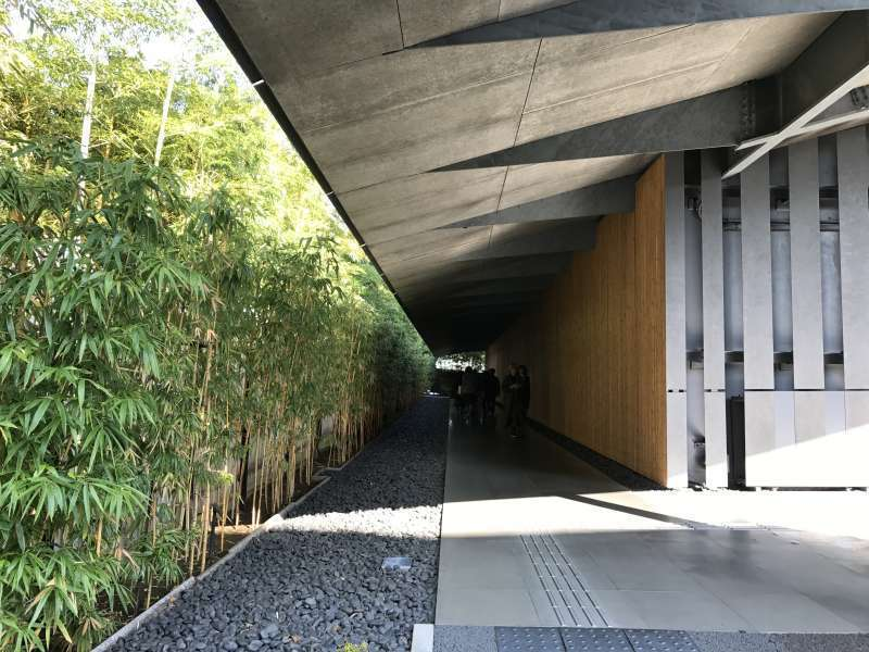 The approach to Nezu Museum in Harajuku area