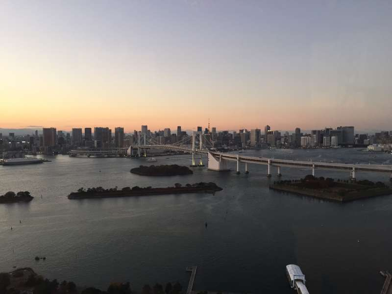 Tokyo Bay area seen from Odaiba, entertainment district with malls, museums etc...