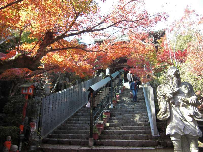 Steps lead to Daishoin Temple which is the most distinguished temple of Miyajima