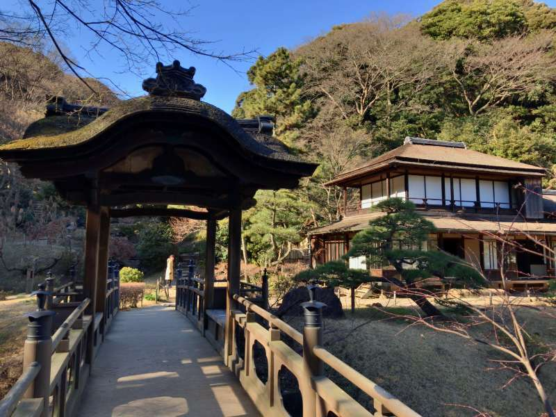 Rinshunkaku Villa, originaly built in 1649, as a villa for a leading feudal lord in Wakayama prefecture, designated as an Important Cultural Asset, in Sankeien Garden