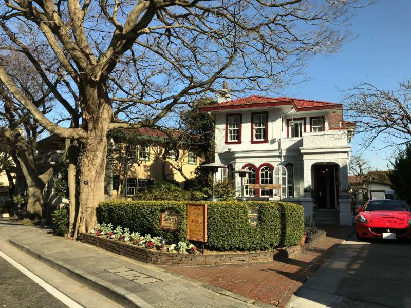 Bluff No.234, once used as an apartment for foreign residents, and Yamate Residence 89-6 housing a cafe, in Yamate area