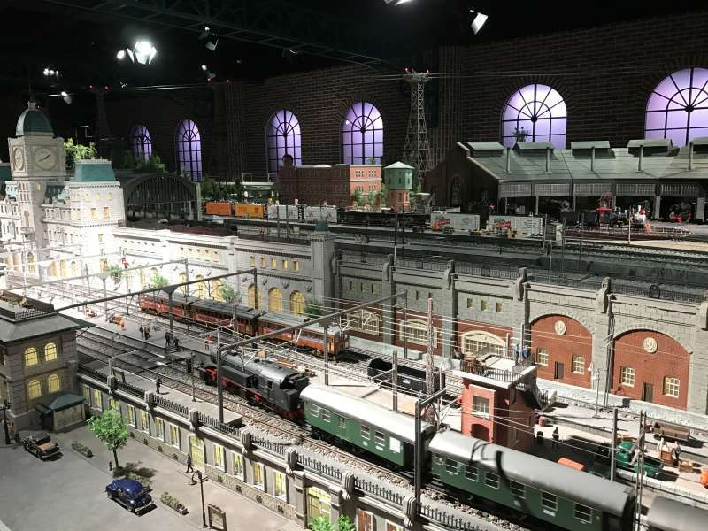 Hara Model Railway Museum in Yokohama Station area, exhibiting a massive collection of model trains. On the large-scale diorama, the running of real trains is reproduced.