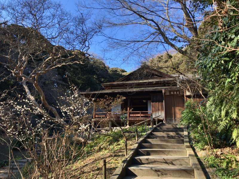 Gekka-den Guest House, originaly built in 1603, as a waiting room for feudal lords in Kyoto, designated as an Important Cultural Asset, in Sankeien Garden