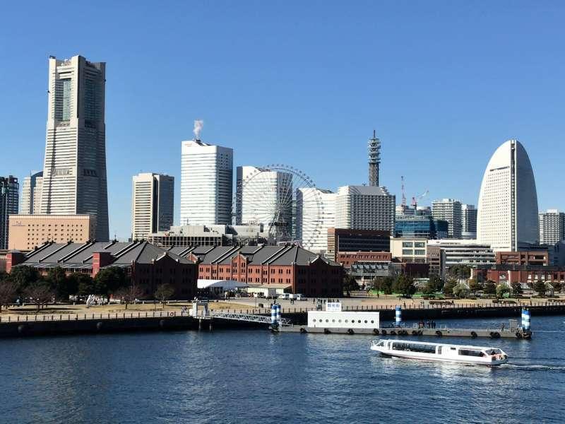 Minato Mirai 21 area from the Port of Yokohama