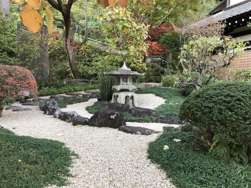 A dry-style garden at Hasedera Temple in Kamakura