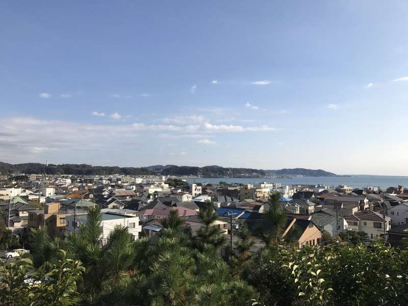 A view from Hasedera Temple in Kamakura