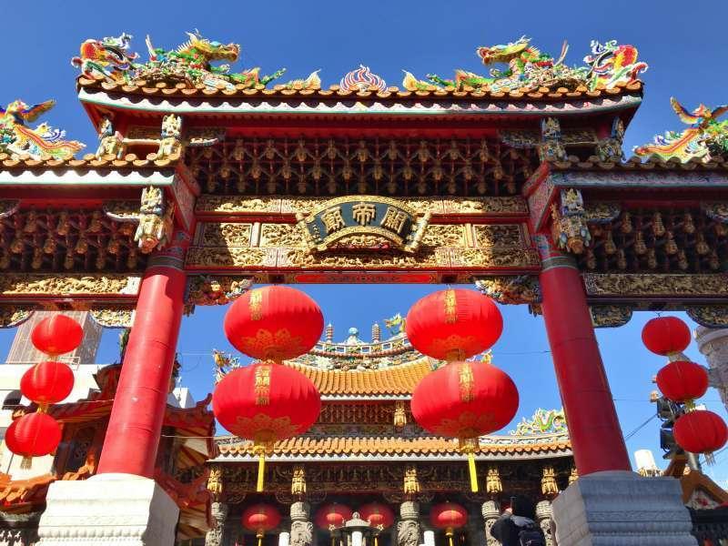 Kantei-byo enshrining Guan Yu - a hero of Chinese Three Kingdoms, in Yokohama Chinatown