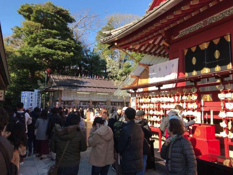 The premises of Main Shrine at Tsurugaoka Hachimangu Shrine in Kamakura