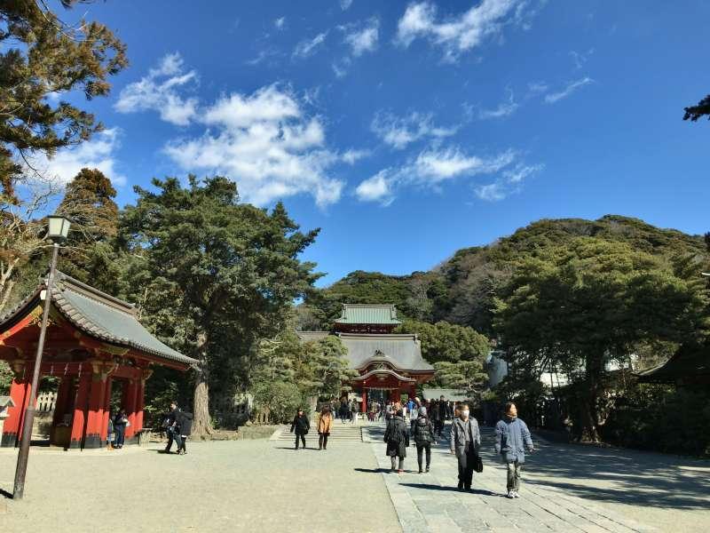 Tsurugaoka Hachimangu Shrine, located in the center of Kamakura