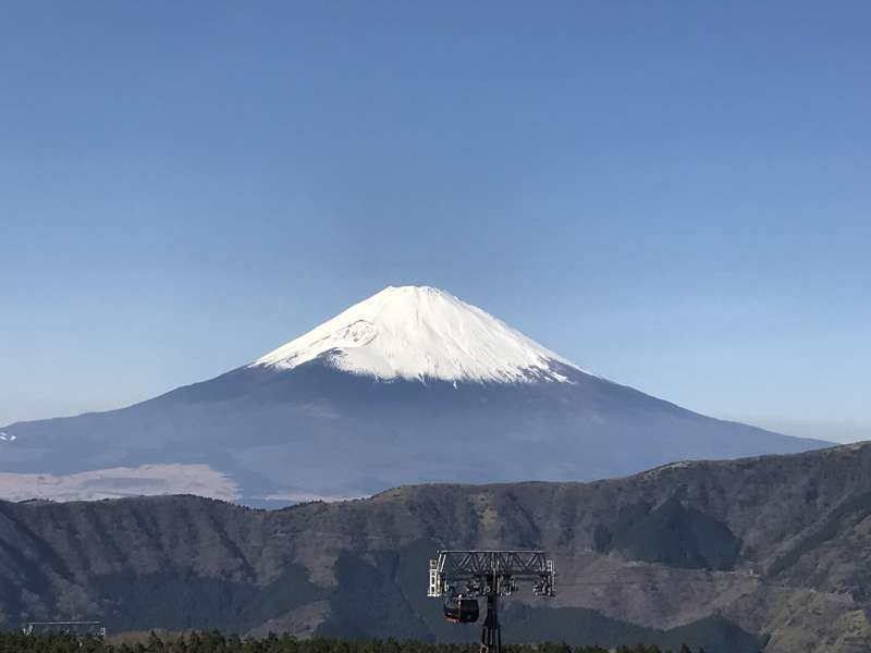 A breathtaking view of Mt. Fuji from Owakudani valley