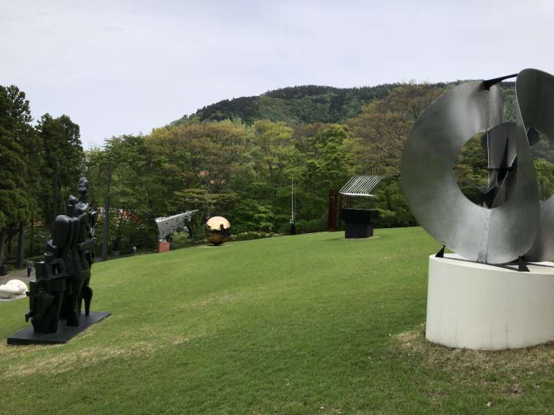 The Hakone Open-Air Museum, displaying more than 100 works against the picturesque scenery of the Hakone mountains.
