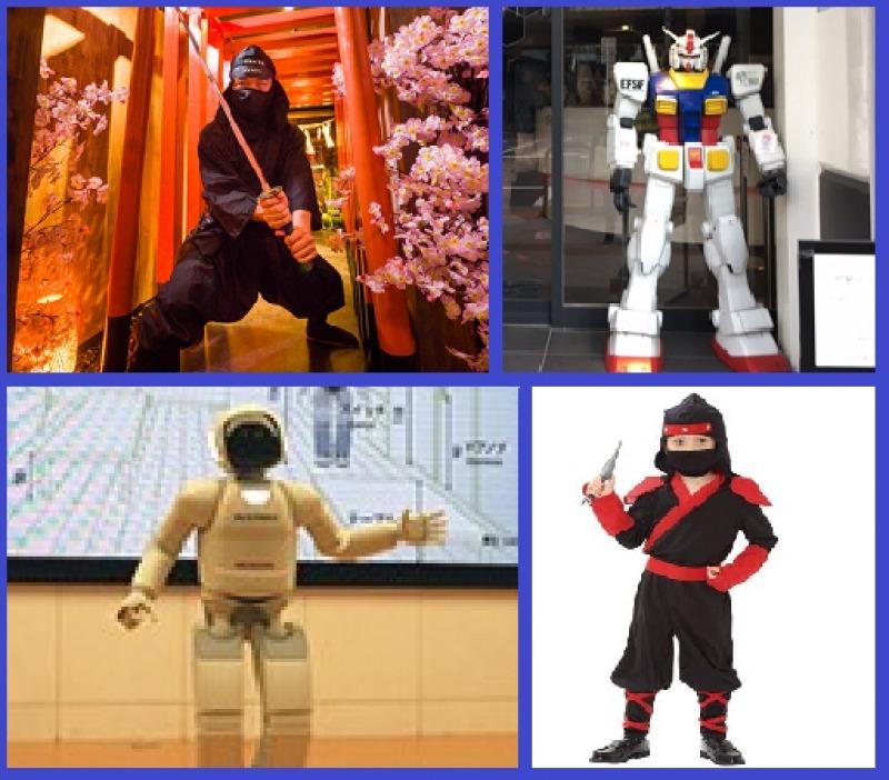 Ninja, DUNDAM robot & ASIMO