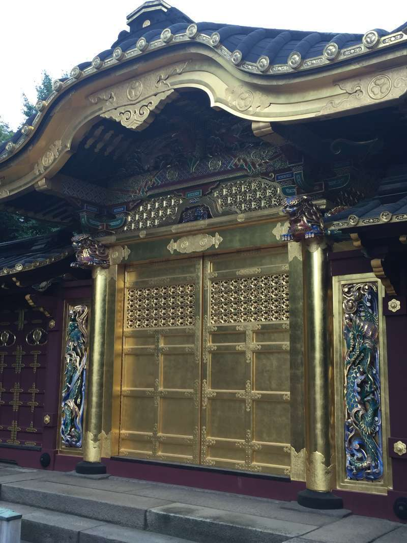 Golden shrine built by Tokugawa shogunate in 17th century. Ueno is symbolic place for Tokugawa government, which developed Edo (old name of Tokyo) into one of the biggest metropolitan cities in the world at that time.