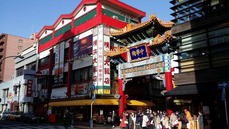 China town, The major China Town in Asia in Yokohama.