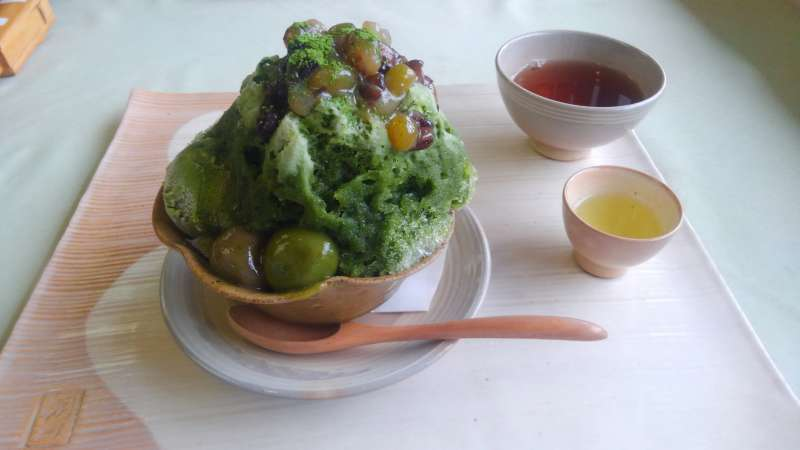 Maccha (green tea) dessert