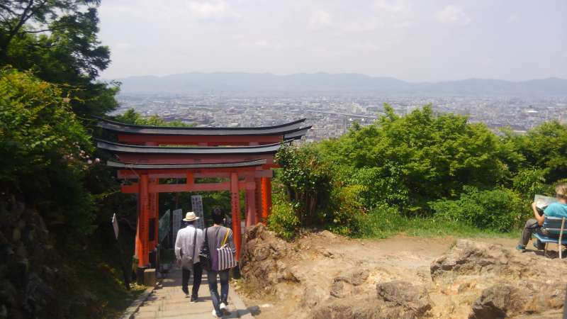 View point @ Fushimi Inari. If you are a strong walker, we can go up to this point.