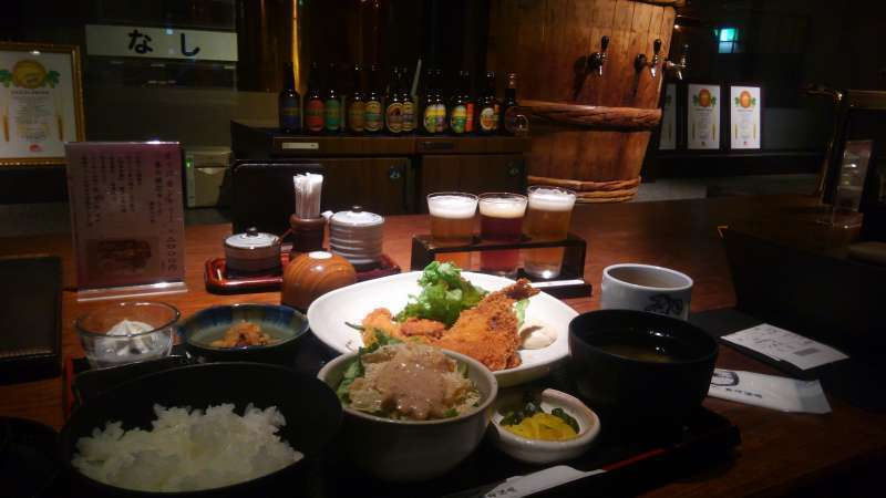 Sake brewery lunch