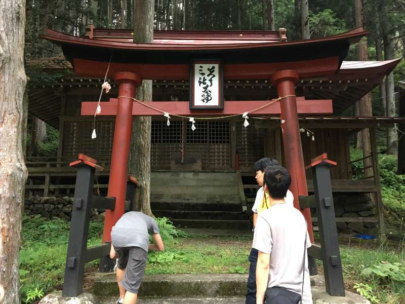 Local shrine where we have a traditional dancing every summer