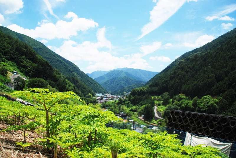 Kosuge remains a scenery of mountain village in Japan