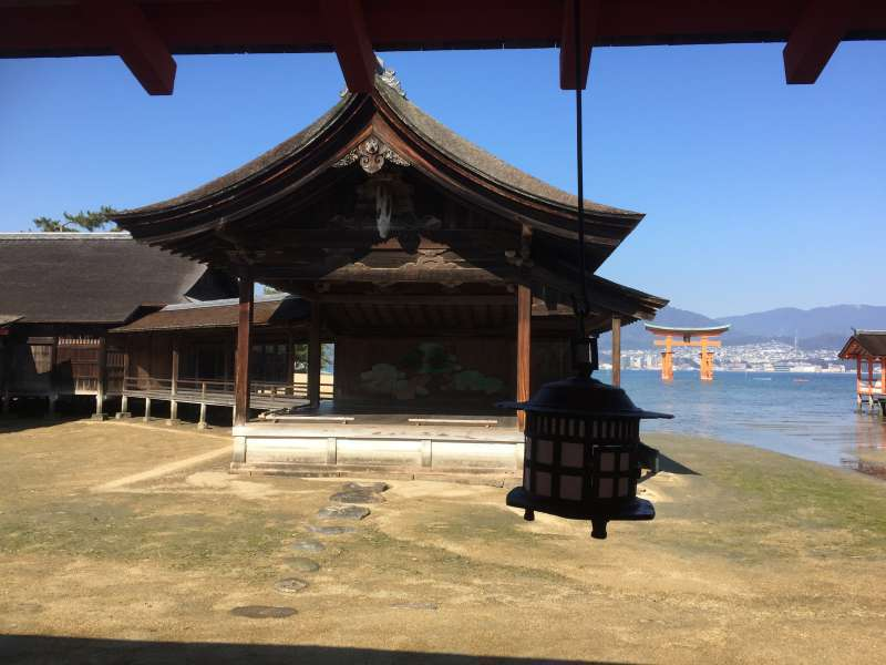 Noh dance stage in Itsukushima Shrine