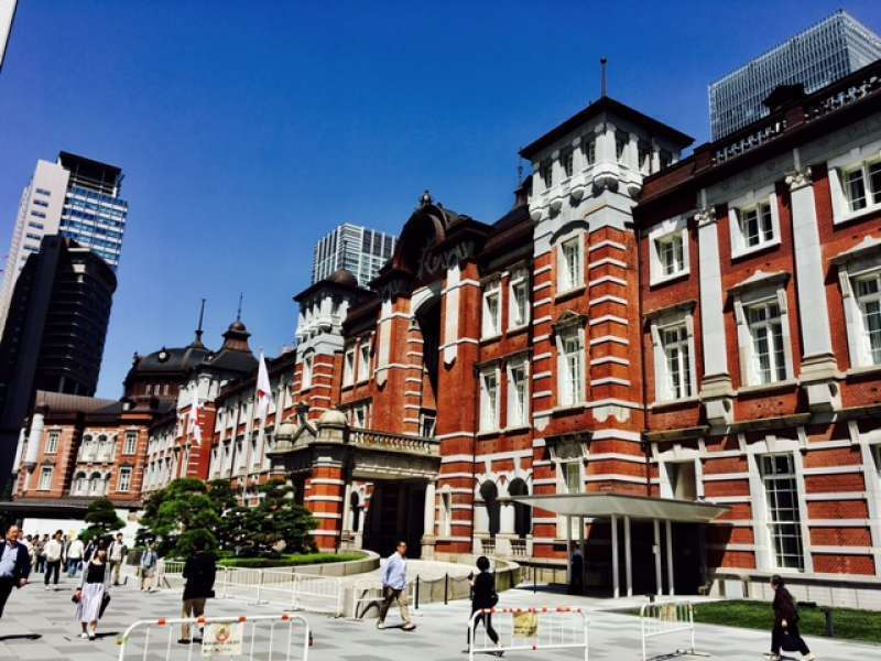 Tokyo Station with two domes and a museum on the important cultural property list