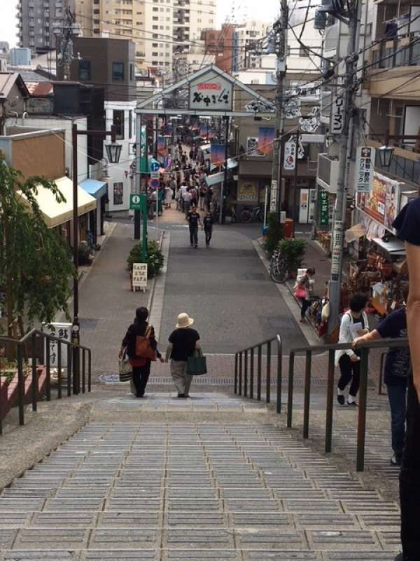 "Yuyakedandan shopping street in an old town ""Yanaka"""