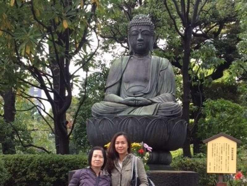 Amidha Buddha statue in Sensoji Temple in Asakusa