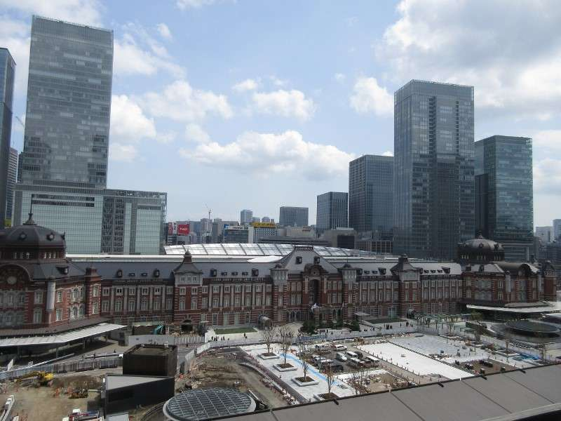Tokyo station which was built in 1914