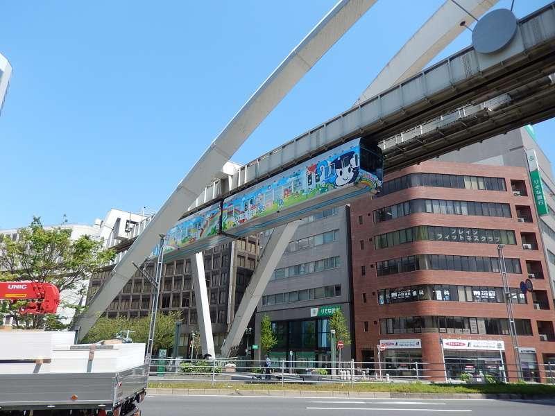 Chiba City monorail running
